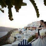Wedding Ceremony at Delfini Villa in Santorini, Greece