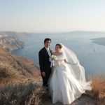 Wedding Ceremony at Dana Villa in Santorini, Greece