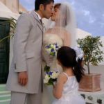 Wedding Ceremony at Fanari Villa, Santorini in Greece