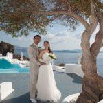 Wedding Ceremony at Kirini Suites in Santorini, Greece