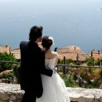 Wedding Ceremony at Chateau d'Eza in Eze, France