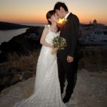 Wedding Ceremony at Delfini Villa, Santorini in Greece