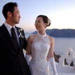 Wedding Ceremony at Katikies Hotel, Santorini in Greece
